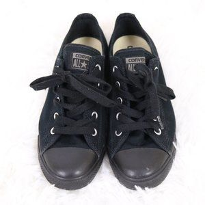 Converse All Star solid black low top c3